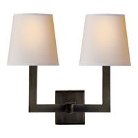 Visual Comfort E.F. Chapman 2 Light Decorative Wall Light in Bronze with Wax SL2820BZ-NP
