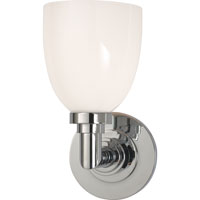 Visual Comfort E.F. Chapman Wilton 1 Light Bath Wall Light in Chrome SL2841CH-WG