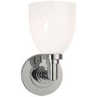Visual Comfort SL2841CH-WG E. F. Chapman Wilton 1 Light 5 inch Chrome Bath Wall Light