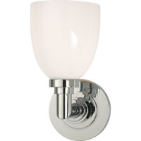 Visual Comfort E.F. Chapman Wilton 1 Light Bath Wall Light in Polished Nickel SL2841PN-WG