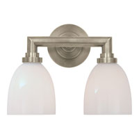 Visual Comfort E.F. Chapman Wilton 2 Light Bath Wall Light in Antique Nickel SL2842AN-WG