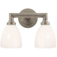 Visual Comfort SL2842AN-WG E. F. Chapman Wilton 2 Light 13 inch Antique Nickel Bath Wall Light