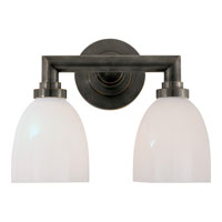 Visual Comfort E.F. Chapman Wilton 2 Light Bath Wall Light in Bronze with Wax SL2842BZ-WG