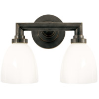 Visual Comfort SL2842BZ-WG E. F. Chapman Wilton 2 Light 13 inch Bronze Bath Wall Light