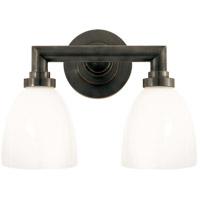Visual Comfort SL2842BZ-WG E. F. Chapman Wilton 2 Light 13 inch Bronze Bath Wall Light