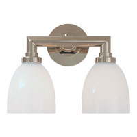 Visual Comfort E.F. Chapman Wilton 2 Light Bath Wall Light in Chrome SL2842CH-WG