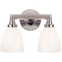 Visual Comfort SL2842CH-WG E. F. Chapman Wilton 2 Light 13 inch Chrome Bath Wall Light
