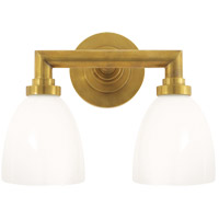 Visual Comfort E. F. Chapman Wilton 2 Light 13 inch Hand-Rubbed Antique Brass Bath Wall Light SL2842HAB-WG - Open Box