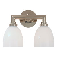 Visual Comfort E.F. Chapman Wilton 2 Light Bath Wall Light in Polished Nickel SL2842PN-WG