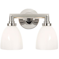 Visual Comfort SL2842PN-WG E. F. Chapman Wilton 2 Light 13 inch Polished Nickel Bath Wall Light