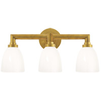 E. F. Chapman Wilton 3 Light 21 inch Hand-Rubbed Antique Brass Bath Wall Light