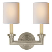 Visual Comfort E.F. Chapman Wilton 2 Light Decorative Wall Light in Antique Nickel SL2846AN-NP