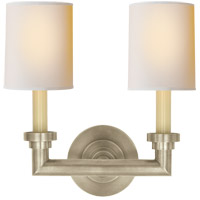 Visual Comfort SL2846AN-NP E. F. Chapman Wilton 2 Light 13 inch Antique Nickel Decorative Wall Light