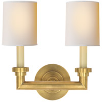 Visual Comfort SL2846HAB-NP E. F. Chapman Wilton 2 Light 13 inch Hand-Rubbed Antique Brass Decorative Wall Light