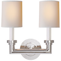 Visual Comfort SL2846PN-NP E. F. Chapman Wilton 2 Light 13 inch Polished Nickel Decorative Wall Light