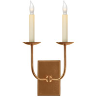 Visual Comfort E.F. Chapman TT 2 Light Decorative Wall Light in Hand-Rubbed Antique Brass (Shades Sold Separately) SL2861HAB