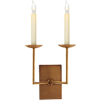 Visual Comfort E.F. Chapman Right Angle 2 Light Decorative Wall Light in Hand-Rubbed Antique Brass (Shades Sold Separately) SL2866HAB
