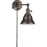 Visual Comfort E.F. Chapman Boston 1 Light Swing-Arm Wall Light in Bronze with Wax SL2920BZ/SLE-BZ