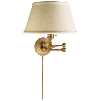 E. F. Chapman Boston 19 inch 60 watt Hand-Rubbed Antique Brass Swing-Arm Wall Light