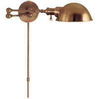 E. F. Chapman Boston 23 inch 60 watt Hand-Rubbed Antique Brass Swing-Arm Wall Light