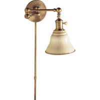 Visual Comfort Studio Boston Sandy Chapman Boston Swing Arm in Hand-Rubbed Antique Brass with SLE Shade SL2920HAB/SLE-AW