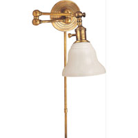Visual Comfort E.F. Chapman Boston 1 Light Bath Wall Light in Hand-Rubbed Antique Brass SL2920HAB/SLEG-WG