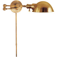 E.F. Chapman Boston 23 inch 60 watt Hand-Rubbed Antique Brass Swing-Arm Wall Light