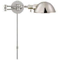 E. F. Chapman Boston 23 inch 60 watt Polished Nickel Swing-Arm Wall Light