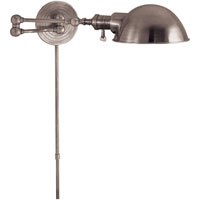 Visual Comfort E.F. Chapman Boston 1 Light Swing-Arm Wall Light in Polished Nickel SL2920PN/SLG-PN