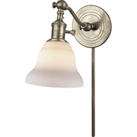 Visual Comfort E.F. Chapman Boston 1 Light Bath Wall Light in Antique Nickel SL2921AN/SLEG-WG