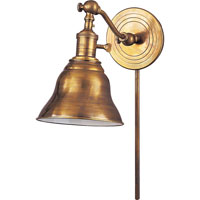 Visual Comfort E.F. Chapman Boston 1 Light Task Wall Light in Hand-Rubbed Antique Brass SL2921HAB/SLE-HAB