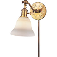 Visual Comfort E.F. Chapman Boston 1 Light Bath Wall Light in Hand-Rubbed Antique Brass SL2921HAB/SLEG-WG