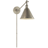 E. F. Chapman Boston 18 inch 60 watt Antique Nickel Single Arm Library Light Wall Light