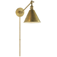 Visual Comfort E.F. Chapman Boston 1 Light Task Wall Light in Hand-Rubbed Antique Brass SL2922HAB