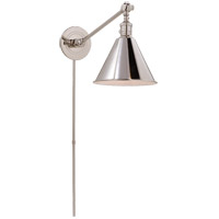 E. F. Chapman Boston 18 inch 60 watt Polished Nickel Single Arm Library Light Wall Light