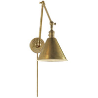 Visual Comfort E.F. Chapman Boston 1 Light Task Wall Light in Hand-Rubbed Antique Brass SL2923HAB