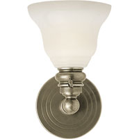 Visual Comfort E.F. Chapman Boston 1 Light Bath Wall Light in Antique Nickel SL2931AN/SLEG-WG