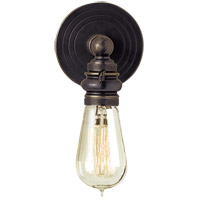 E. F. Chapman Boston 1 Light 5 inch Bronze Wall Light