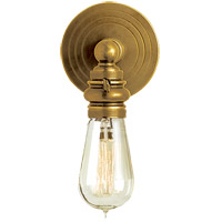 Visual Comfort E.F. Chapman Boston 1 Light Bath Wall Light in Hand-Rubbed Antique Brass SL2931HAB