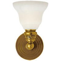Visual Comfort SL2931HAB/SLEG-WG E. F. Chapman Boston 1 Light 6 inch Hand-Rubbed Antique Brass Wall Light