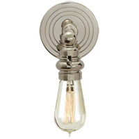 Visual Comfort E.F. Chapman Boston 1 Light Bath Wall Light in Polished Nickel SL2931PN