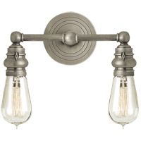 Visual Comfort E.F. Chapman Boston 2 Light Bath Wall Light in Antique Nickel SL2932AN