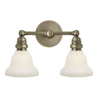Visual Comfort E.F. Chapman Boston 2 Light Bath Wall Light in Antique Nickel SL2932AN/SLEG-WG