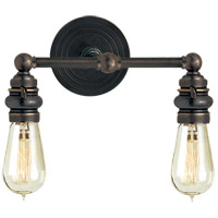 E.F. Chapman Boston 2 Light 15 inch Bronze Bath Wall Light in (None)