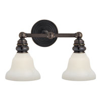 Visual Comfort E.F. Chapman Boston 2 Light Bath Wall Light in Bronze SL2932BZ/SLEG-WG