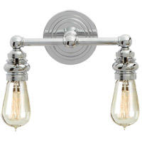 E. F. Chapman Boston 2 Light 12 inch Chrome Wall Light