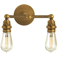 Visual Comfort E.F. Chapman Boston 2 Light Bath Wall Light in Hand-Rubbed Antique Brass SL2932HAB
