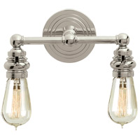 Visual Comfort E.F. Chapman Boston 2 Light Bath Wall Light in Polished Nickel SL2932PN