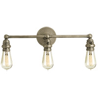 Visual Comfort E.F. Chapman Boston 3 Light Bath Wall Light in Antique Nickel SL2933AN