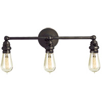 Visual Comfort E.F. Chapman Boston 3 Light Bath Wall Light in Bronze with Wax SL2933BZ